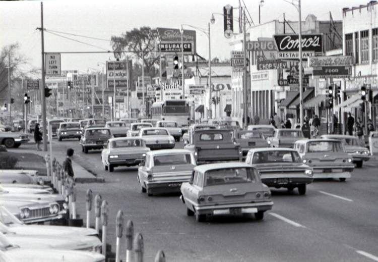 Woodward At Nine Mile Road 1960s Photo Courtesy Of Wsu