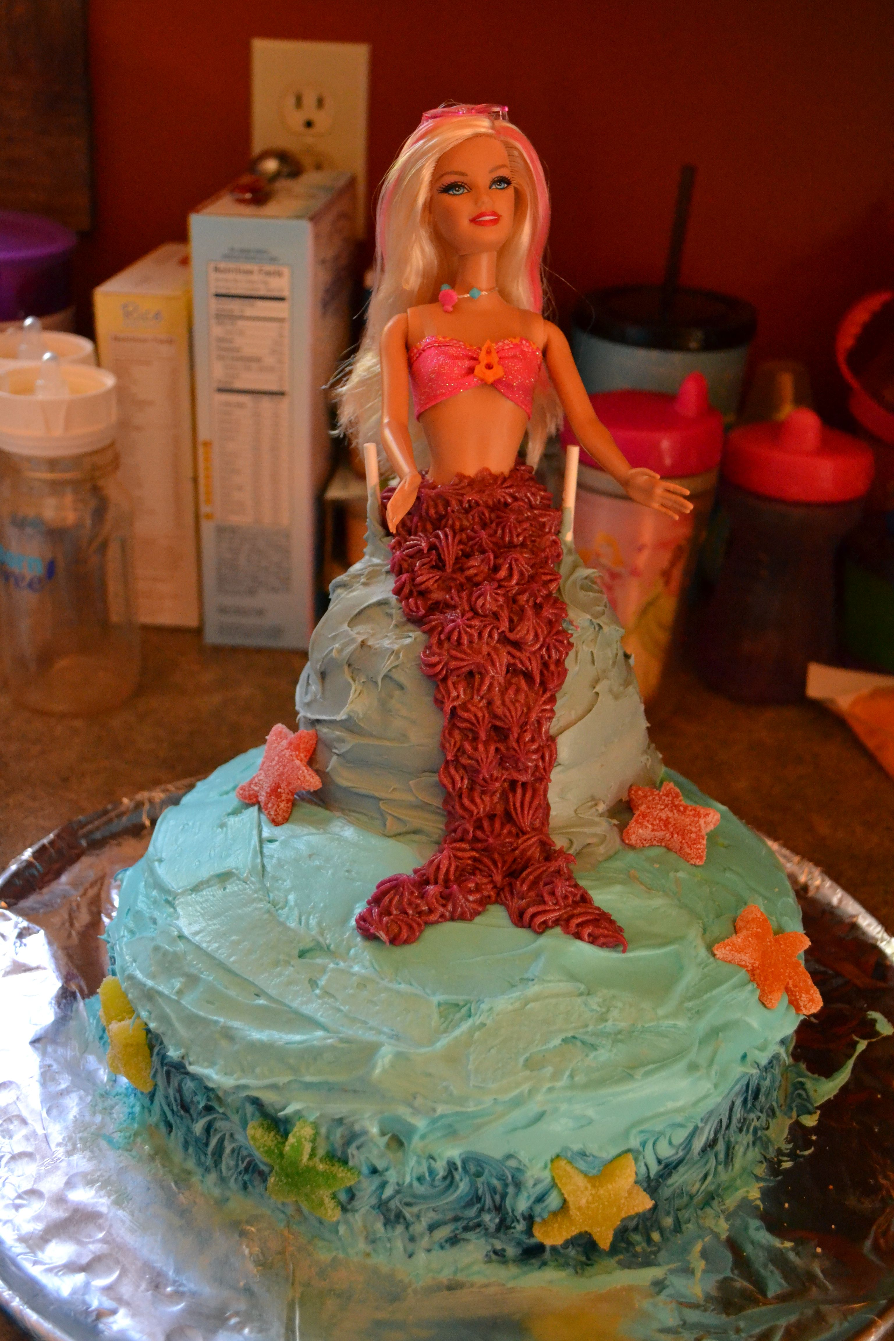 Barbie Mermaid Birthday Cake