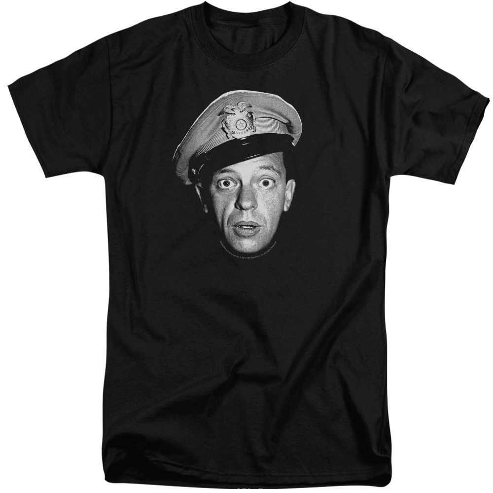 Andy Griffith/Barney Head Short Sleeve Adult T-Shirt Tall in