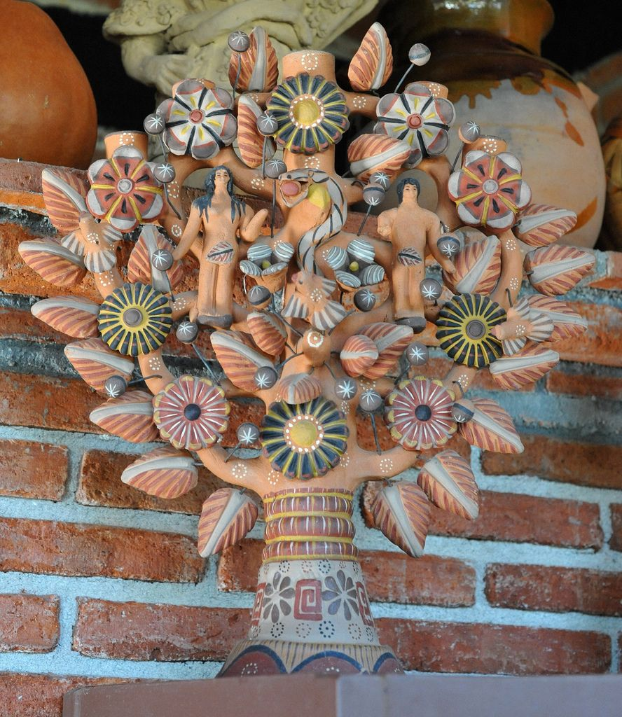 Tree Of Life Oaxaca Folk Art Flowers Folk Pottery Mexican Art