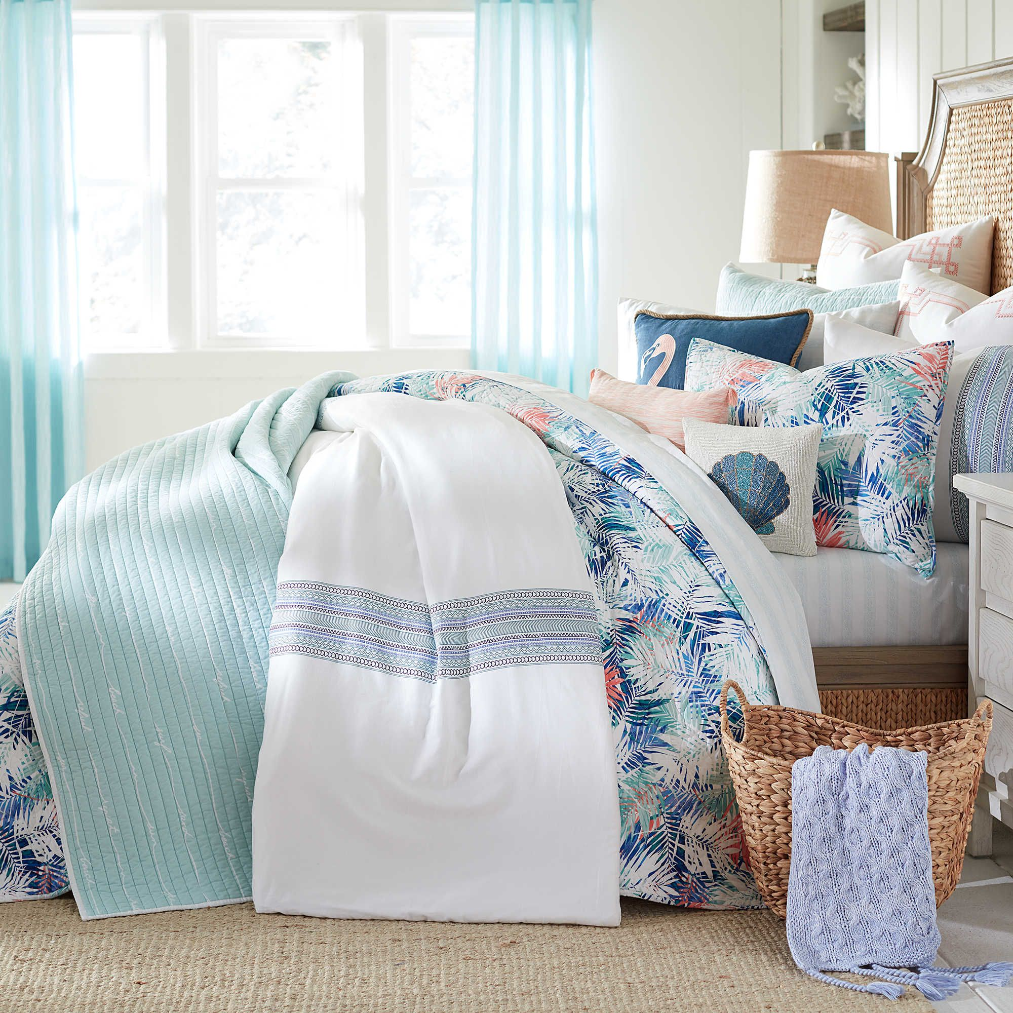 Coastal Living Palm Collection Bed Bath Beyond Coastal