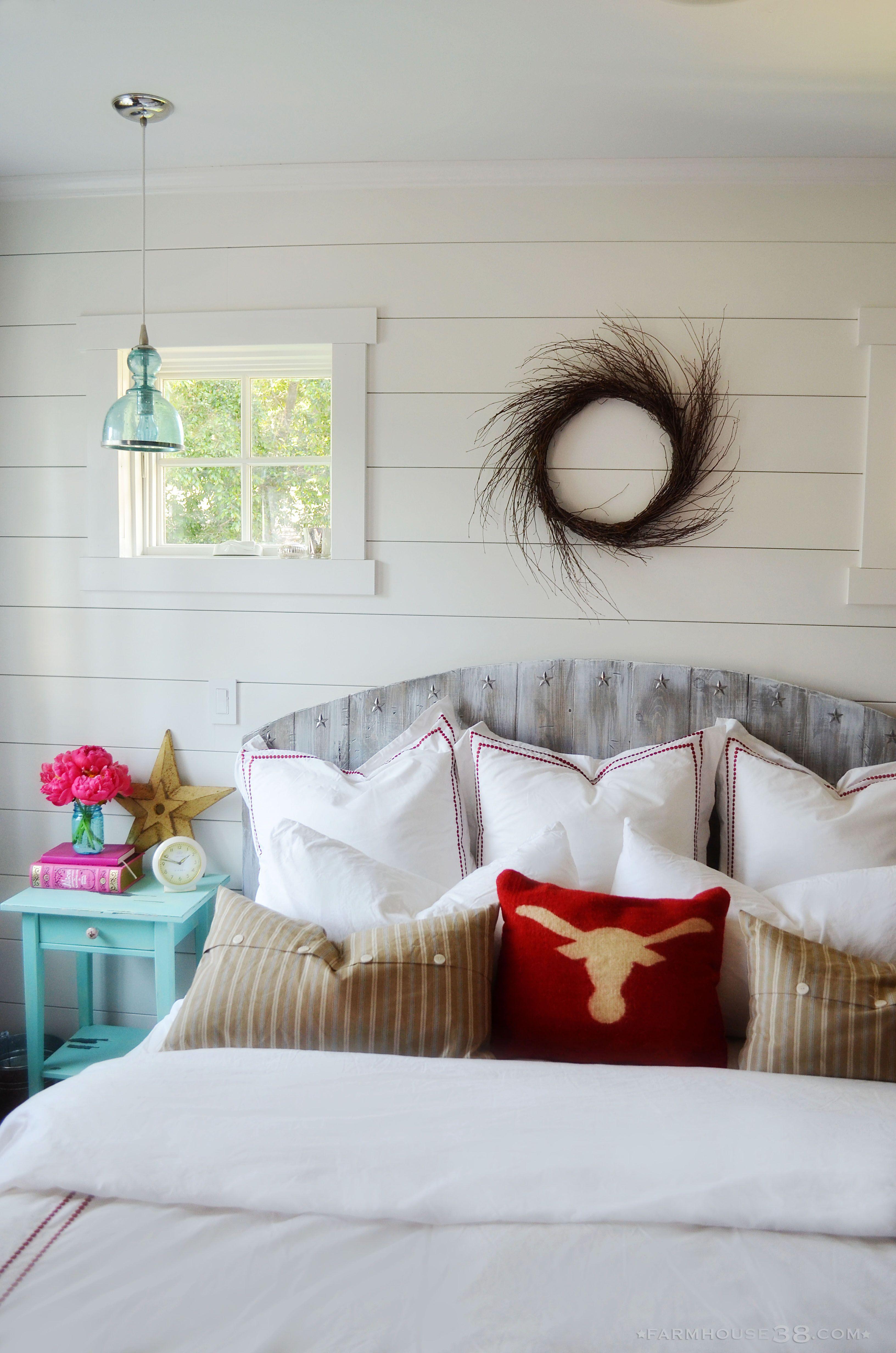 Master bedroom headboard  DIY Weathered Wood Headboard  Master bedroom makeover Wood