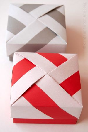 Twist Lock Origami Boxes My article... - OrigamiTutorials | Facebook | 450x300