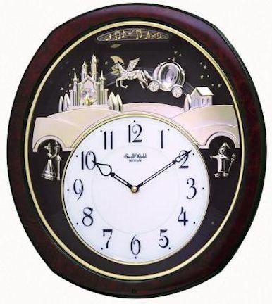 Photograph 4mh862wu23 Princess Fantasy Musical Clock By Rhythm Small World Clock Rhythm Clocks How To Make Wall Clock