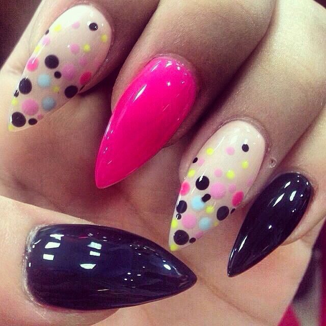 Love how the pointed tips and deep purple are offset by the candy ...
