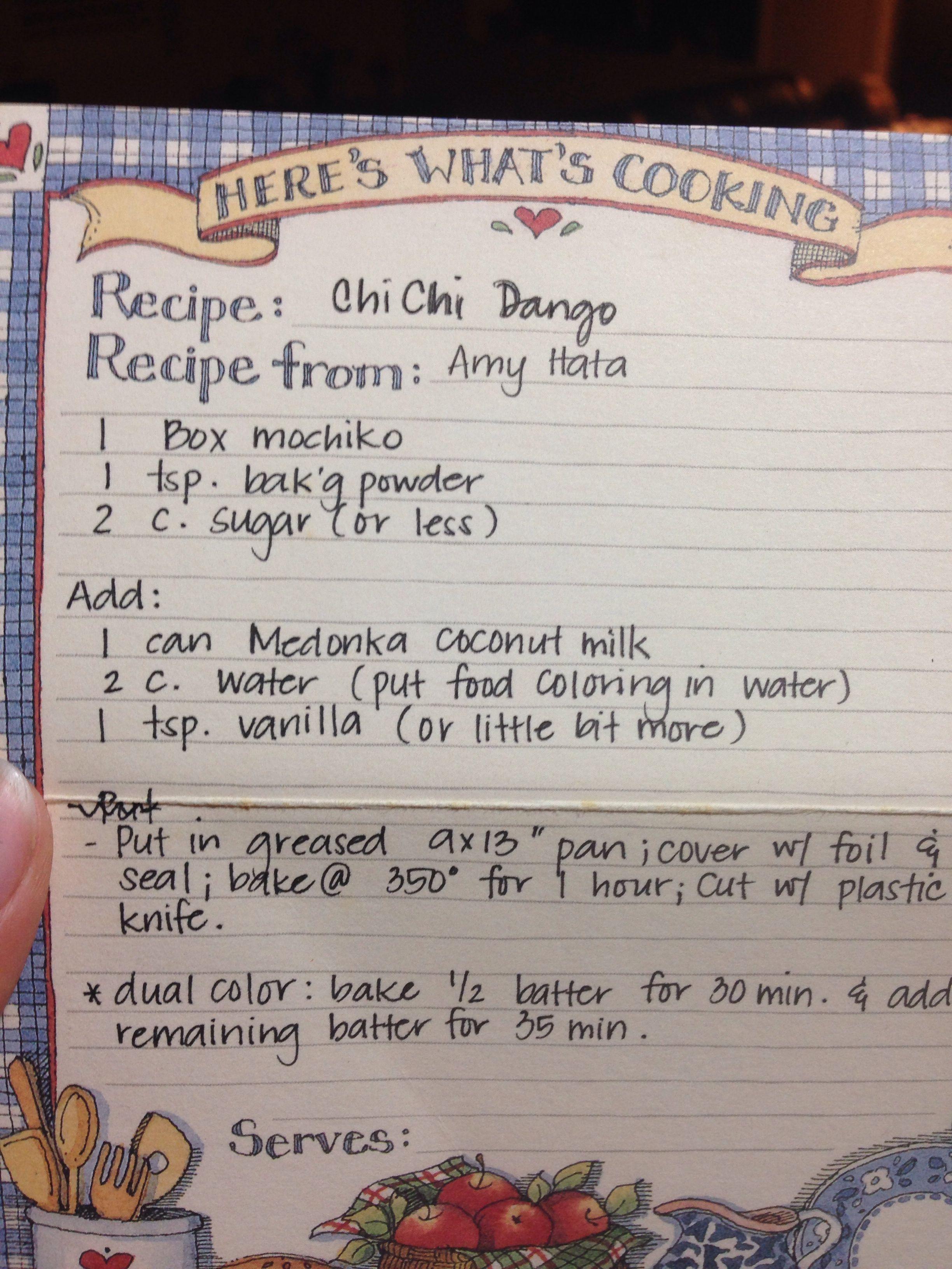 Chichi dango | Recipes | Pinterest | Mochi, Mochi recipe and Food