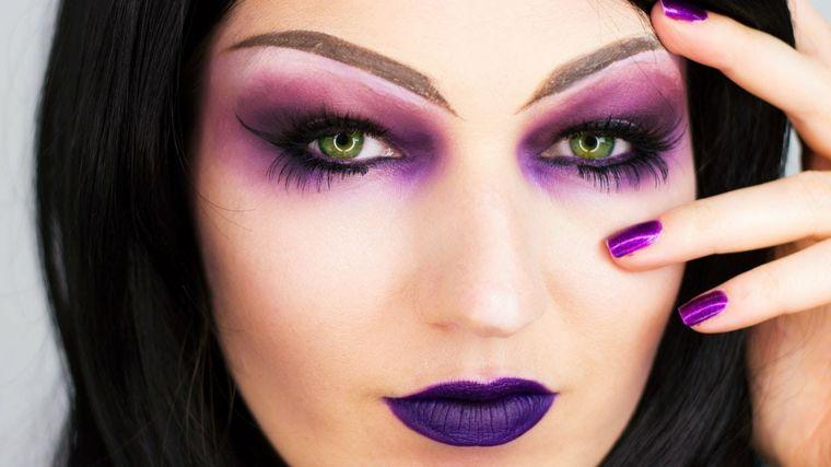 maquillaje de bruja color rosa - Maquillaje Bruja