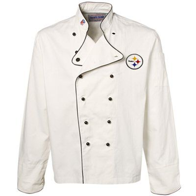 online retailer 6a018 28199 Pittsburgh Steelers White Premium Chef Coat   Cooking ...