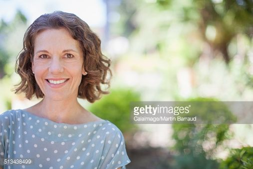 Stock Photo : Older woman smiling outdoors