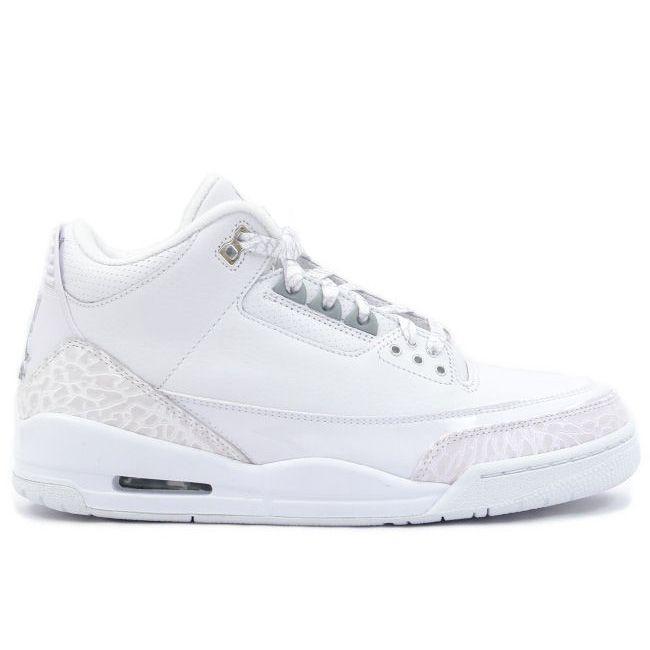 on sale c1717 19a50 136064103 Air Jordan 3 (III) Retro Anniversary White Silver A03016