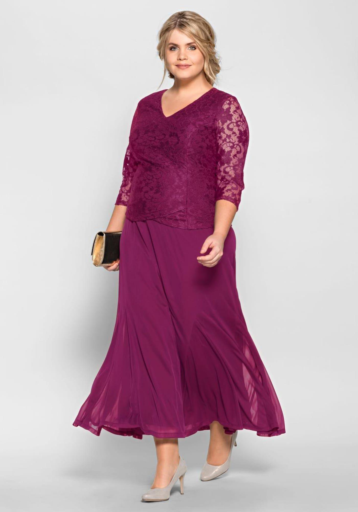 SHEEGO Kleid Damen, Beere, Größe 19  Kleidung brautmutter, Kleid