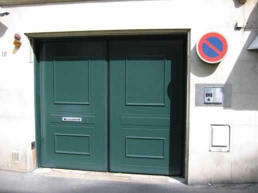 Porte de garage accordeon w 702 déco bois safir