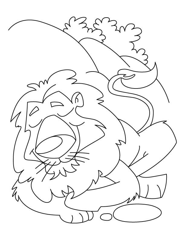 Happy Lion Coloring Pages