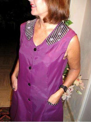 Výsledek obrázku pro blouse nylon kittel sexy | plášť ...