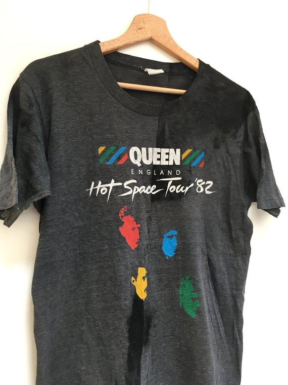 82df46a0 Vintage Queen tshirt Band tee rock music Hot Space Tour 82 ...