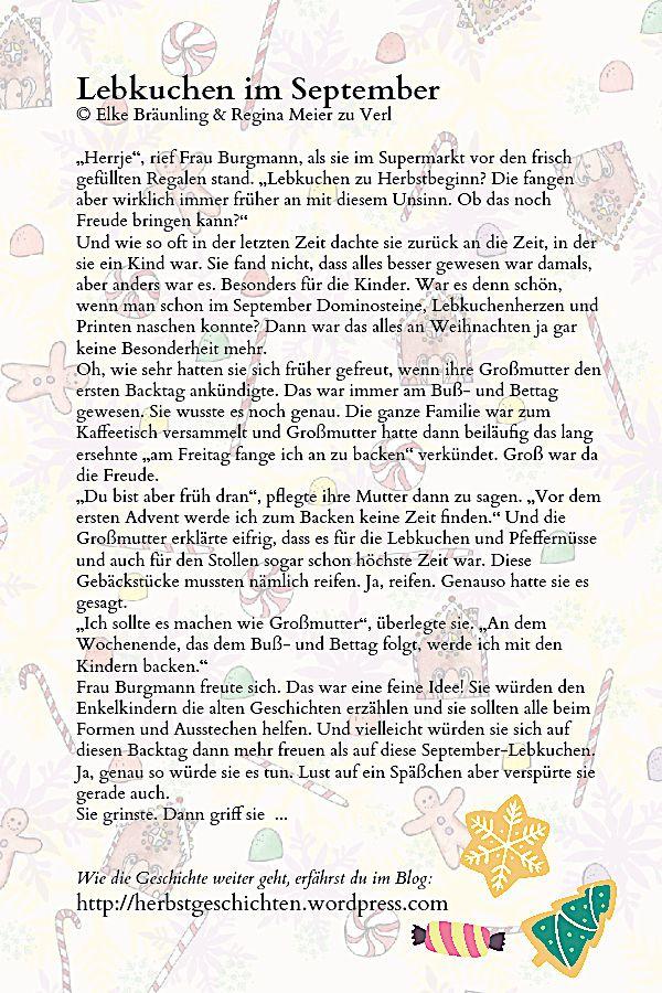 Lebkuchen Im September Herrje Rief Frau Burgmann Als Sie Im Supermarkt Vor Den Frisc Geschichten Fur Senioren Geschichten Fur Kinder Weihnachten Geschichte