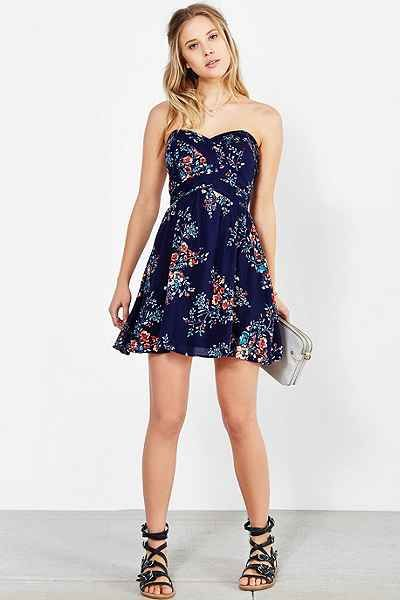 Kimchi Blue Grecian Strapless Mini Dress - Urban Outfitters