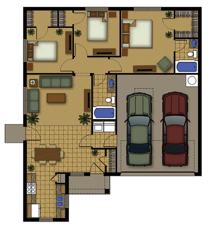 Anderson Floorplan, 3bd/2ba