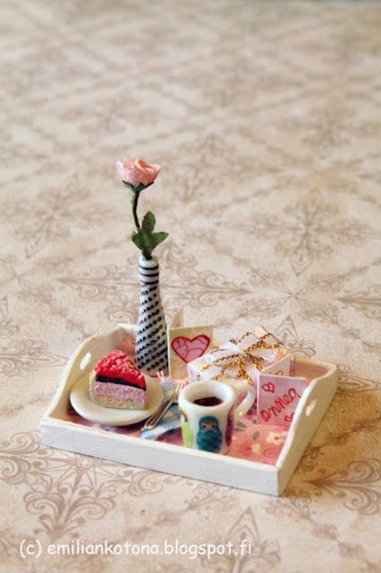 Mother's Day - Treat in Bed - Dollhouse Miniature - Emilian Home Blog