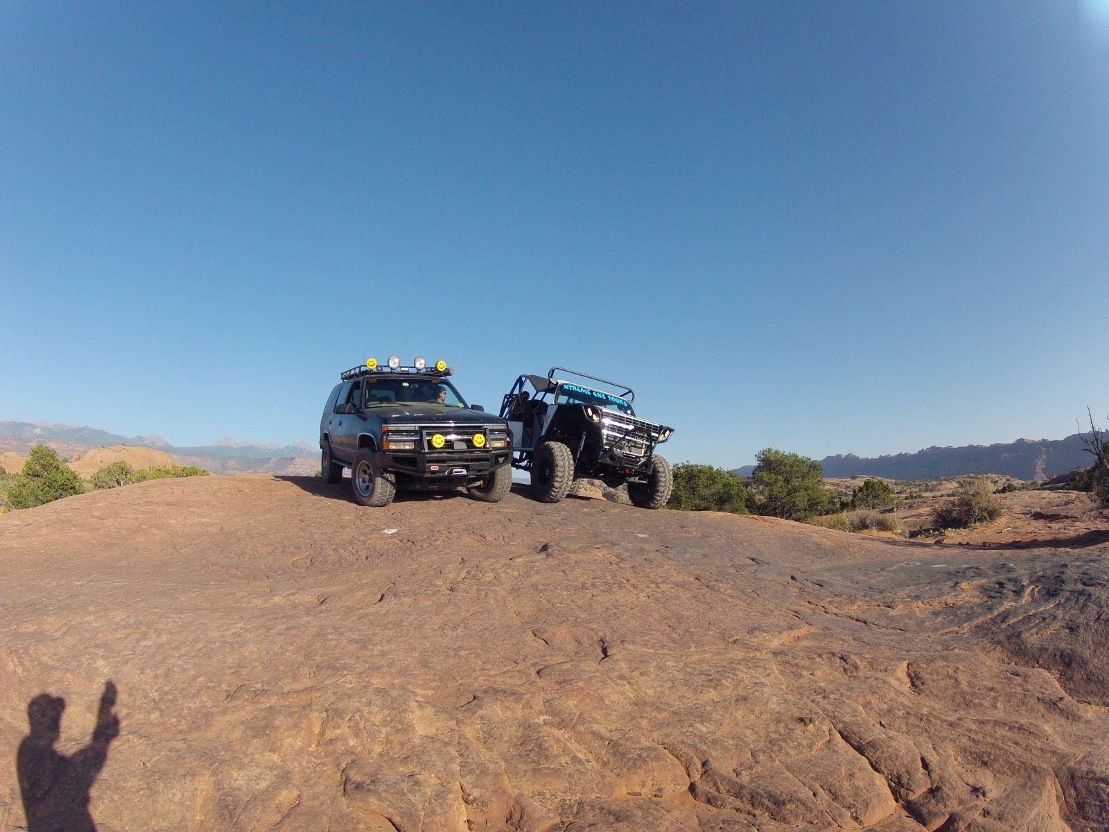 O3E Tahoe + Xtreme 4x4 Suburban in Moab Utah | GMC4x4 com