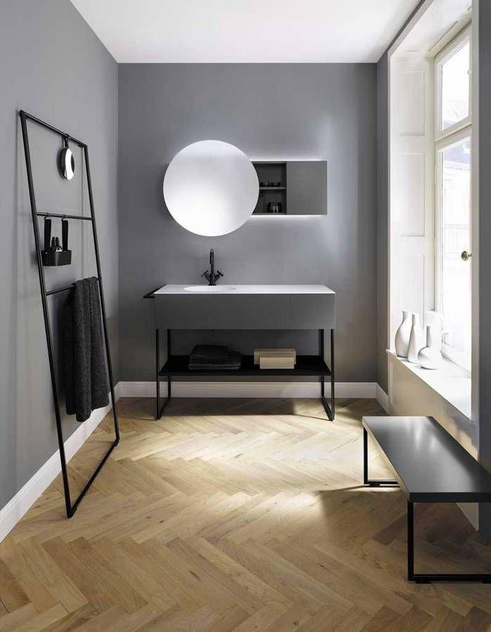 Détournez une échelle en porte-serviettes Home Bathroom - couleur des portes interieur