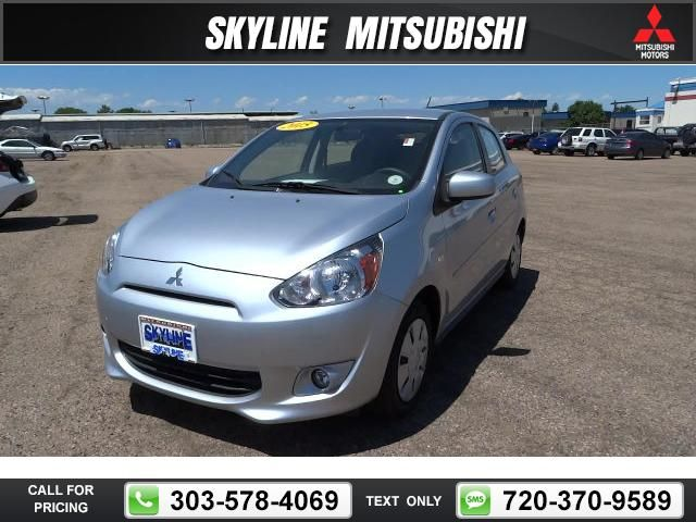 2015 Mitsubishi Mirage DE 3k miles Silver $12,488 3142 miles 303-731-3987 Transmission: Manual  #Mitsubishi #Mirage #used #cars #SkylineMitsubishi #Thornton #CO #tapcars