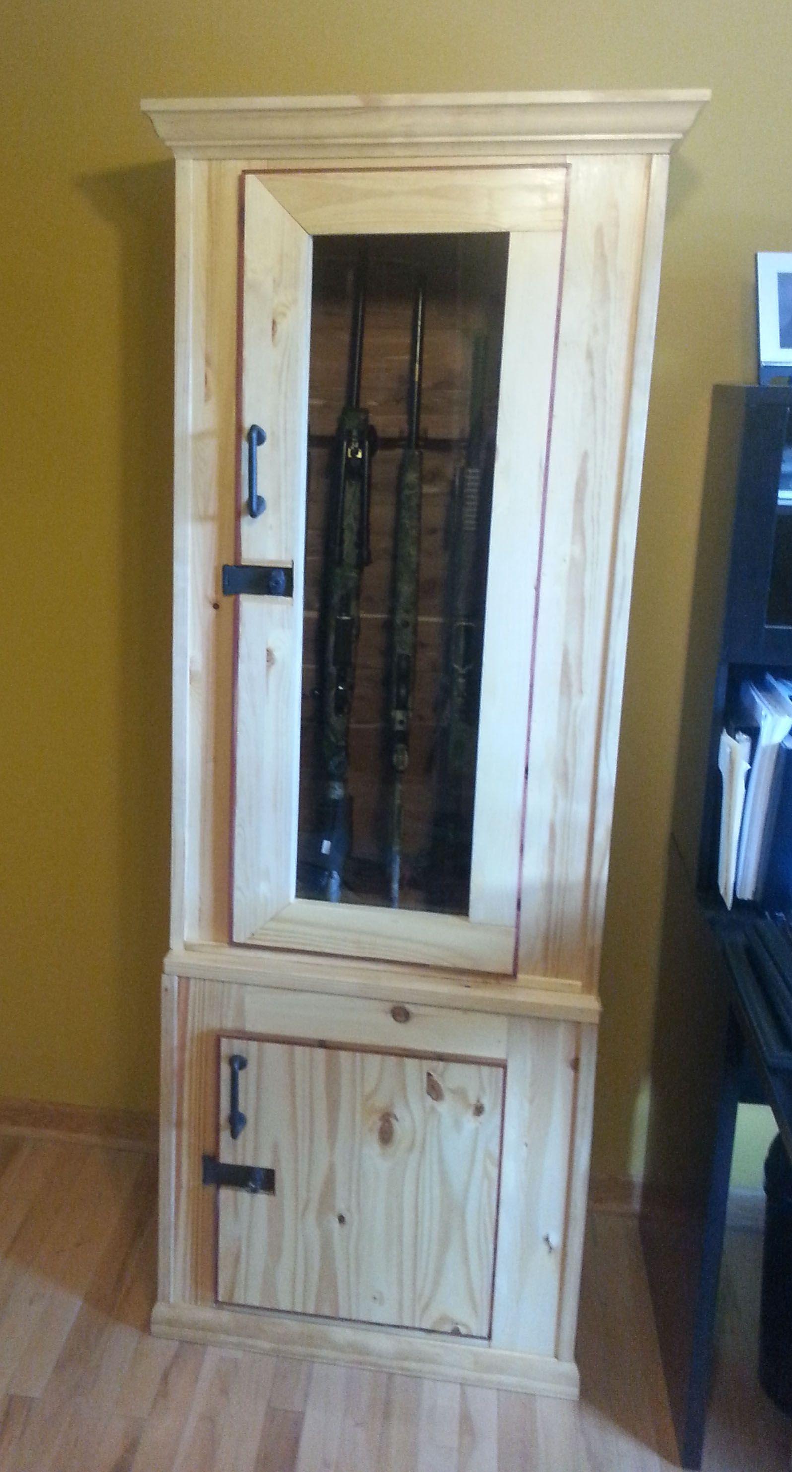 Stock On Gun Cabinet Just Found This Wood Gun Cabinets Cherrywood Security Gun