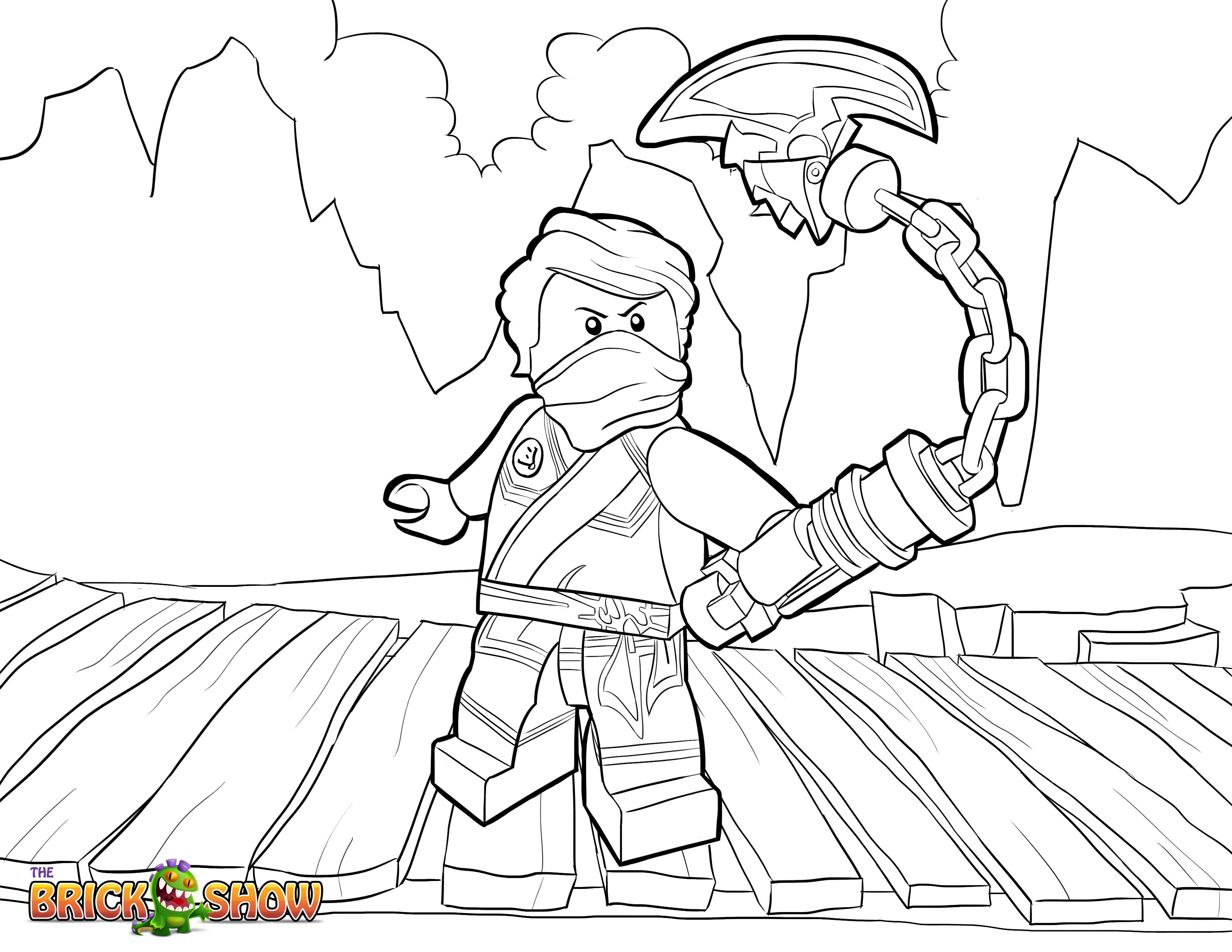 Coloring pages ninjago - Lego Ninjago Coloring Page Lego Lego Ninjago Lloyd Tournament Of Elements Printable Color Sheet