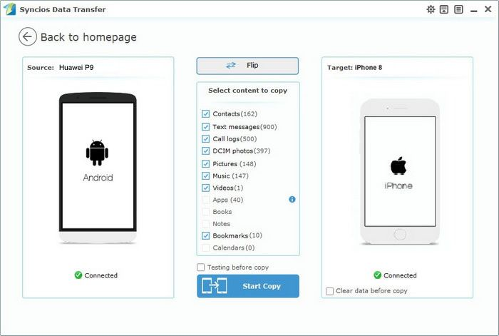How to Transfer from Huawei to iPhone 8 Samsung galaxy