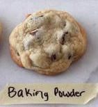 Baking Powder: Removed baking soda from recipe and used 1/2 teaspoon baking powder. This produced results that were more cakey and puffed while baking.