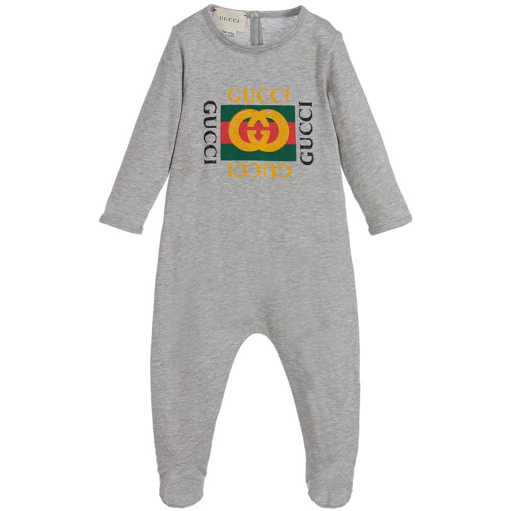 Grey babygrow from Gucci 2f3304a960130