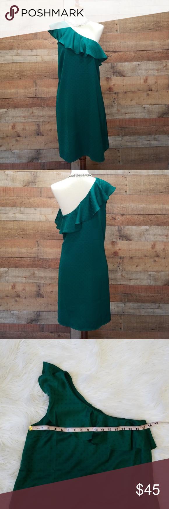 Green dress one shoulder  Loft one shoulder dress NWT  Gorgeous Dresses  Pinterest  Dresses