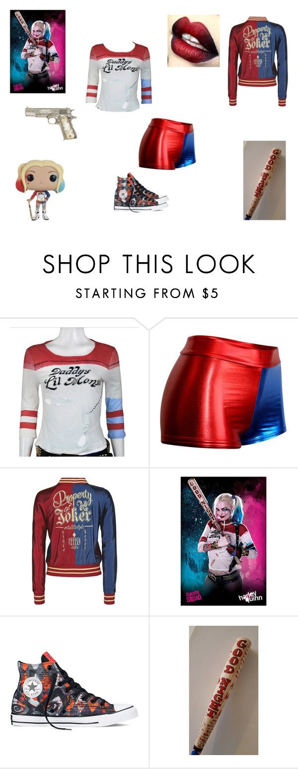 """Harley Quinn Inspired"" by demonlover2002 on Polyvore featuring Converse"