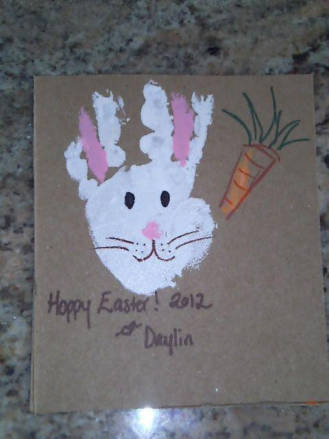 Easter Bunny For The Handprint Calendar