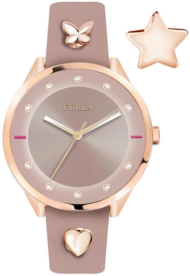 bfd4cbbd1d Furla Women Pin Pink Dial Calfskin Leather Watch #womensdesignerwatches  #womensluxurywatches #bestwomenswatches #ladieswatchesatWalmart ...