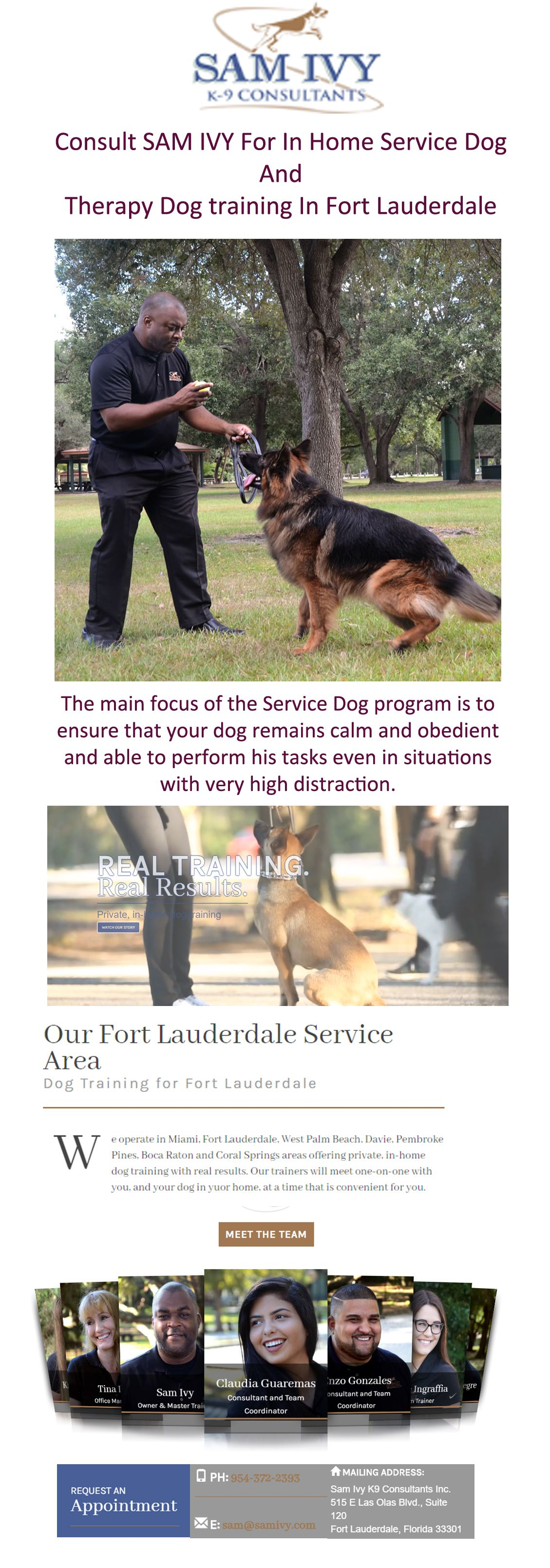 At Samivy Our Main Focus Of The Service Dog Program Is To Ensure