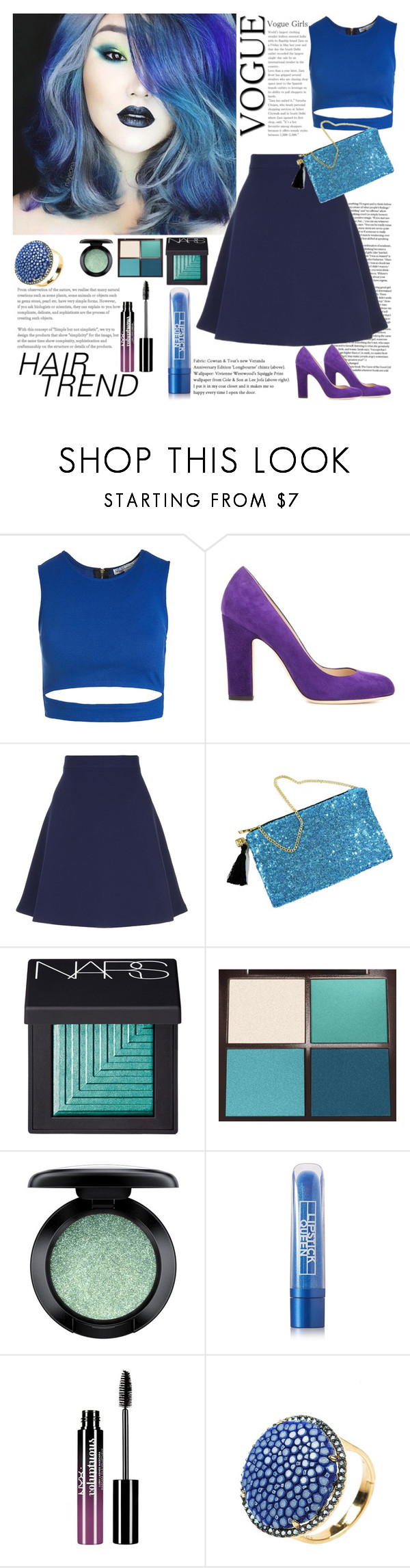 """Senza titolo #5872"" by waikiki24 ❤ liked on Polyvore featuring beauty, Sans Souci, Jimmy Choo, Sandro, NARS Cosmetics, Tom Ford, MAC Cosmetics, Lipstick Queen, Charlotte Russe and hairtrend"
