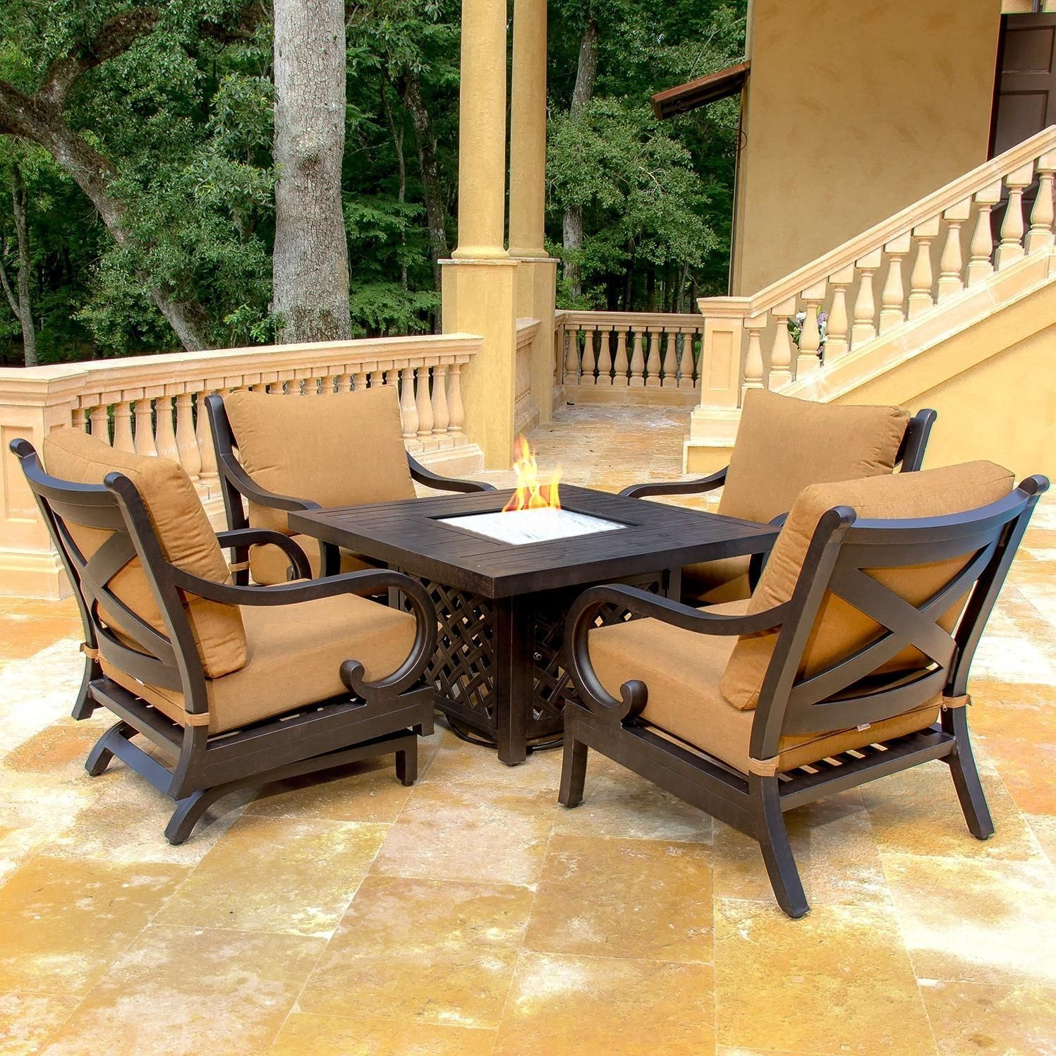Deep Seating Patio Furniture With Fire Pit Fire pit