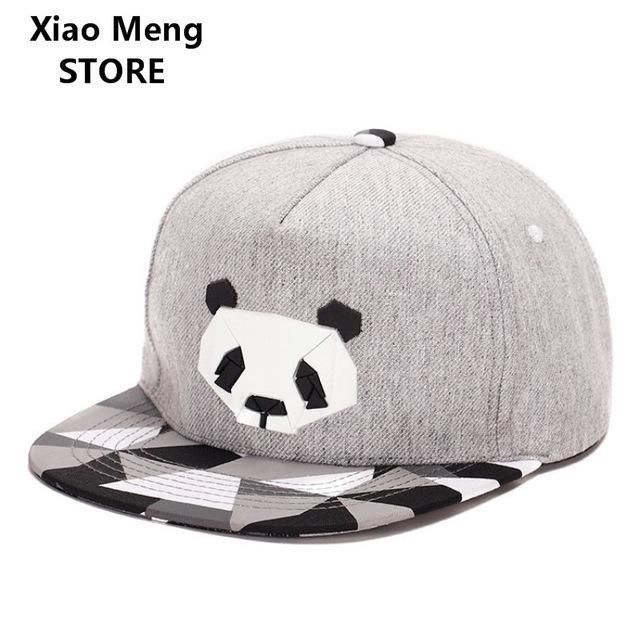 0de467f8383 Classic 5 Panels Cotton Lovers Snapback 3D Panda Plastic Patch Zebra Flat  Brim Baseball Caps Bear