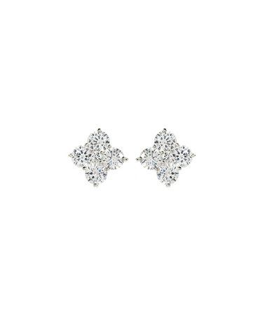 Love this Silver & Simulated Diamond Amrita Square Stud Earrings by Amrita Singh on #zulily! #zulilyfinds