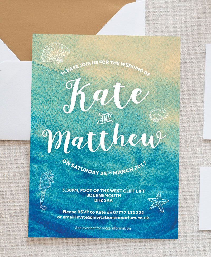 Sign Seal And Deliver Your Wedding Invitations With Our Under The Sea Range