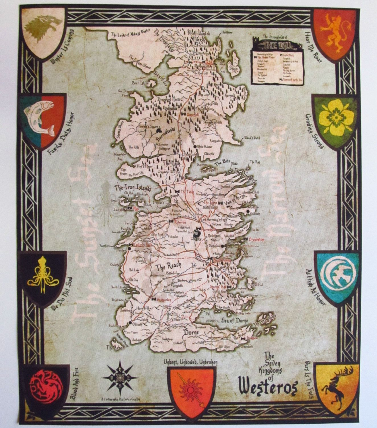 picture relating to Game of Thrones Printable Map titled Pin upon Low Business office Information