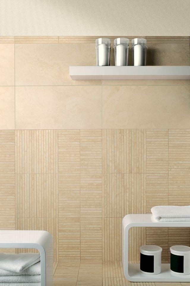 bad fliesen keramik beige steinoptik Eco Alabaster Wohnung