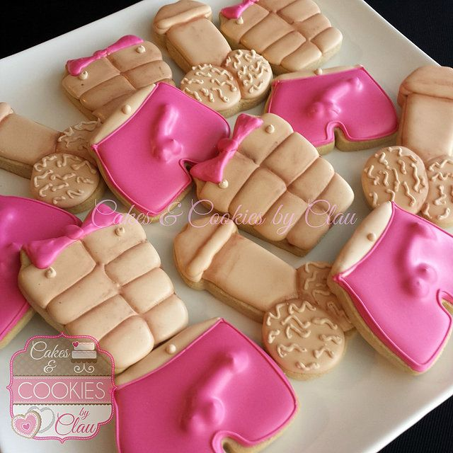 wedding bridal bachelorette lingerie and naughty cookies