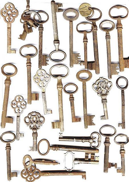 Start collecting keys...check flea markets, antique shops, ask friends if they have old keys they dont want or need