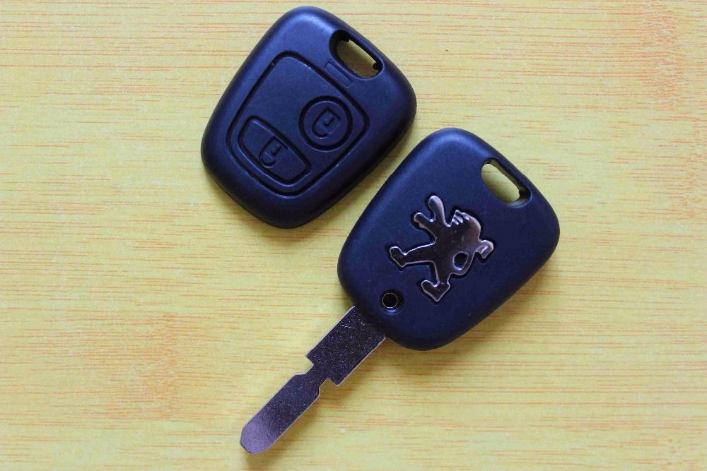 Car Key Cover 2 Buttons Flip Remote Key Fob Shell Case Replacement Fit For Peugeot 406 With Logo Free Shipping