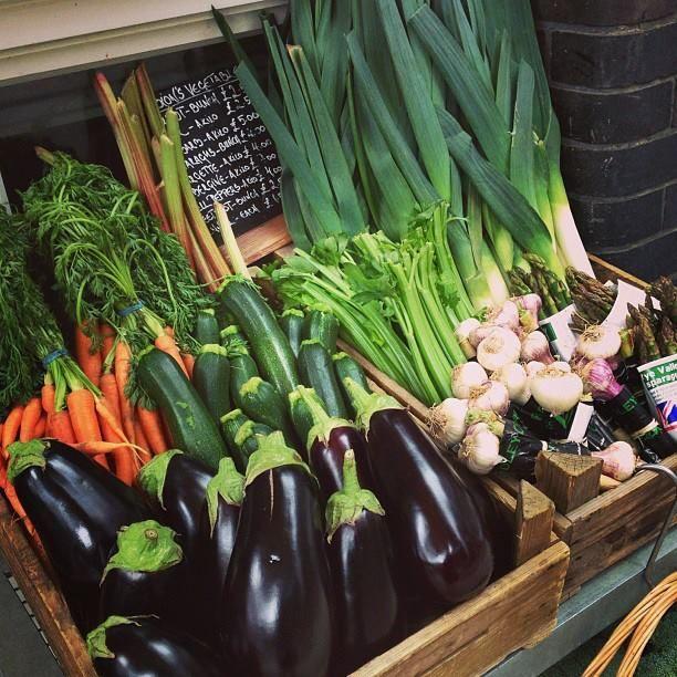 the vegetable market