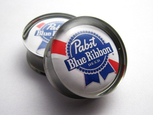 Pabst Blue Ribbon Pbr Plugs 2g 0g 00g 7 16 1 2 9 16 By Superplugs 19 95 Pabst Blue Ribbon Blue Ribbon Tunnels And Plugs