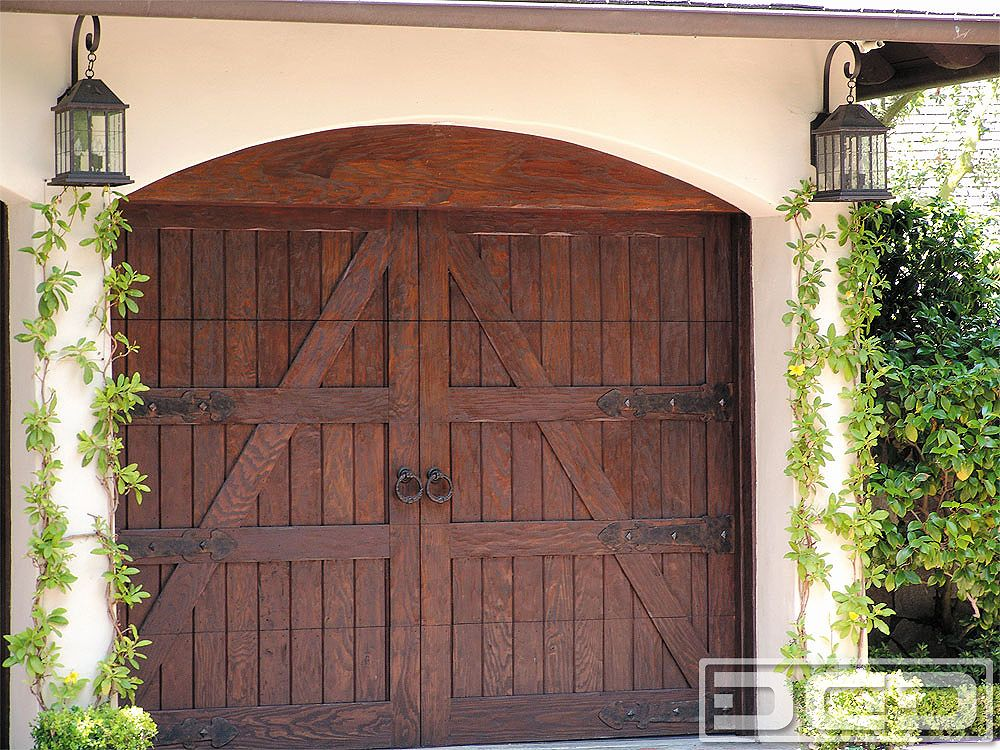 French Country Garage Doors In Solid Wood With Decorative Dummy European Hardware Get A Quote Today Call 714 900 3667 And Speak Us By