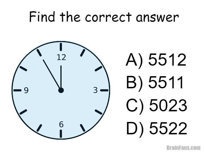 Brain Teaser Picture Logic Puzzle Clock Which Of The Answers A